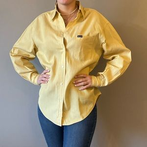 Yellow Faconnable button down shirt